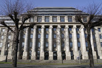 denkmalgeschützte Fassade des vormaligen Gebäudes der Reichs- und Bundesbahndirektion
