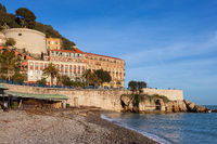 Beach And Sea In City Of Nice In France