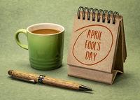 April Fools Day - desktop calendar