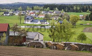 Oberfraenkische Dorfansicht