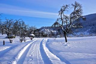 Winterlandschaft am Fusse der Schwäbischen Alb