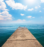 Old pier and beautiful sea