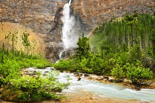 Takakkaw Falls waterfall in Yoho National Park, Canada