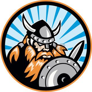 Viking Raider Barbarian Warrior Retro