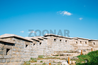 Naksan park fortress wall in Seoul, Korea