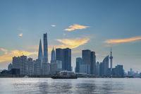 beautiful city view of shanghai