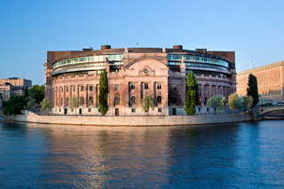 Parliament building in Stockholm, Sweden