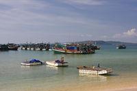 Fischerboote bei Giang Dau auf der Insel Phu Quoc, Vietnam, Asien