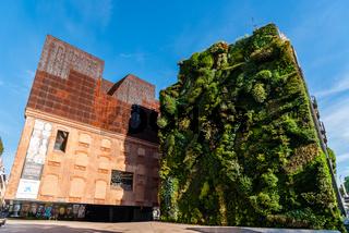 Outdoors view of CaixaForum building in Madrid