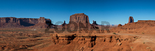 Panorama of the Monument Valley
