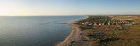 Drone shot of Lido di Dante coast