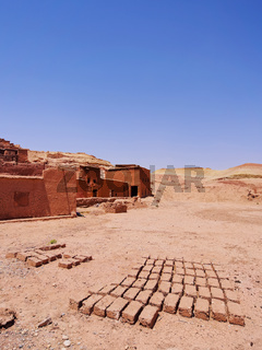 Adobes in Ait Benhaddou, Morocco