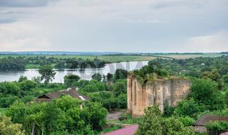 Southern Bug river near Medzhybish fortress in Ukraine