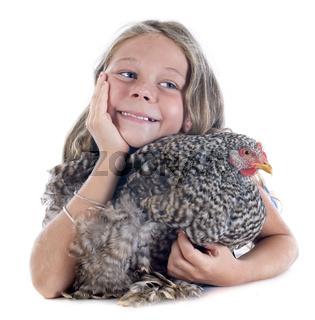 child and chicken