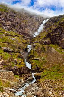 Stigfossen waterfall and Troll's Path - Norway