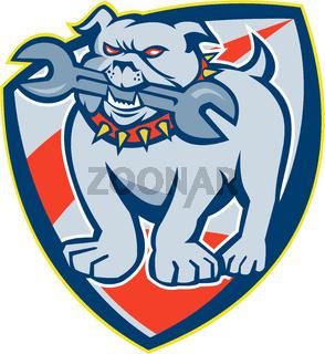 Bulldog Spanner Mascot Shield