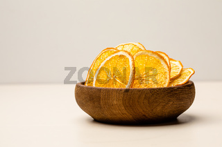 Orange dried fruits heap on the table