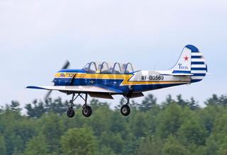 Yak-52 in flight