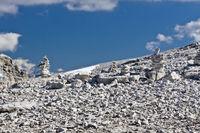 Steinhaufen, Dolomiten, Italien