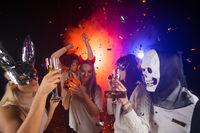 People dancing on Halloween party