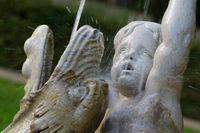 Detailaufnahme von historischen Springbrunnen