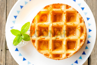 Waffle with min