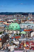 Vienna City Cityscape In Austria