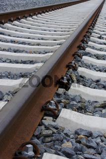 Bahngleise, Hochformat