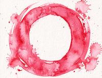 watercolor red circle splash