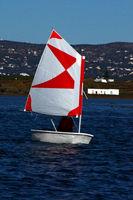 Small sailing boat