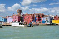Burano,Lagune von Venedig,Adria,Italien