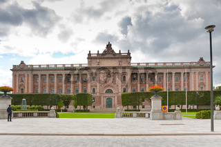 view on The Riksdag building - swedish parliament