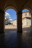 Spoleto Umbria Italy. Piazza del Duomo