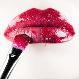 Lip gloss. Shallow depth of field.