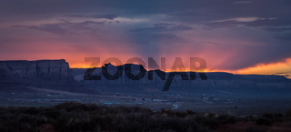 Colorful red sunset near Monument Valley - Utah