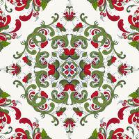 Rosemaling vector pattern 43