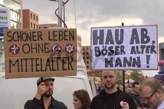 Protestdemo, Gegendemonstration gegen den Pabstbesuch