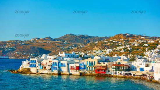 Landscape with Chora town in Mykonos
