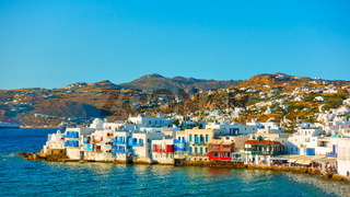 Landscape with Chora town in Mykonos