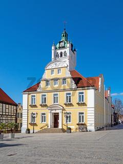 Rathaus und Rathausplatz von Verden an der Aller, Niedersachsen, Deutschland