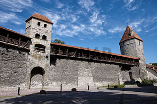 Old fortification towers