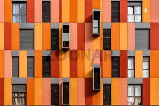 Modern social housing in Ecobulevar area of Madrid