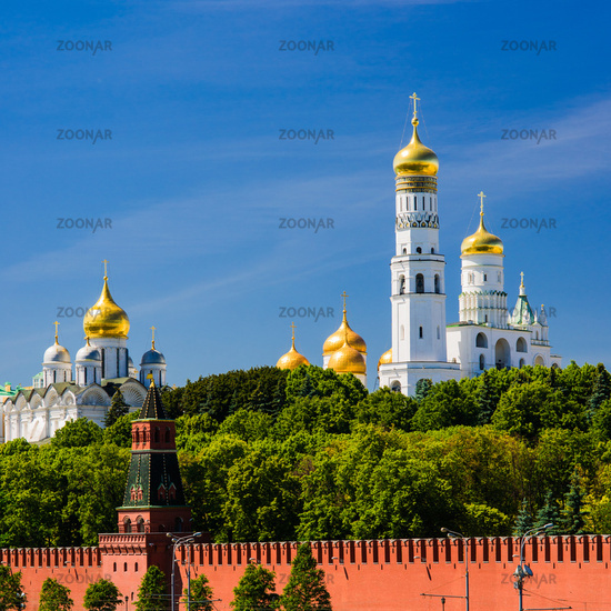 Golden Domes of Moscow Kremlin
