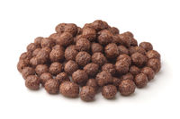 Pile of chocolate cereal balls