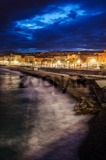 City of Nice in France at Dusk