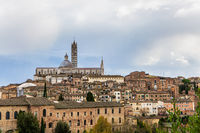 The medieval center of Siena
