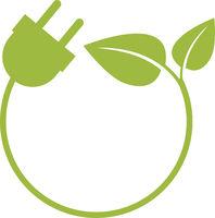 round green energy symbol or logo