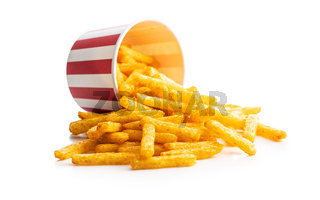 French fries. Salted snack. Potato chips.