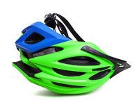 Multicolor bicycle helmet upside down
