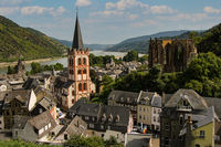 View on the village Bacharach in the Rhine Valley in Germany